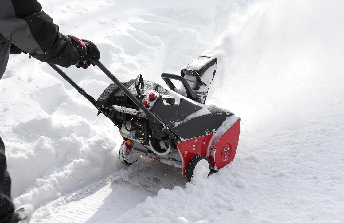 small push snow blower