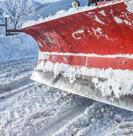 Large, commercial snow plow blade